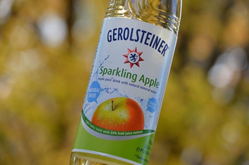 Gerolsteiner Sparkling Apple Mineral Water.